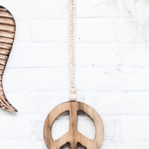 Peace mala mini naturel