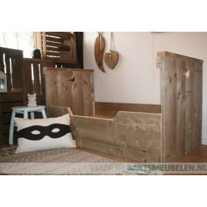 Steigerhouten bed Joey