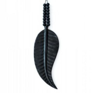 ceramics mala feather black