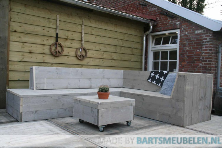 steigerhouten loungebank Tom